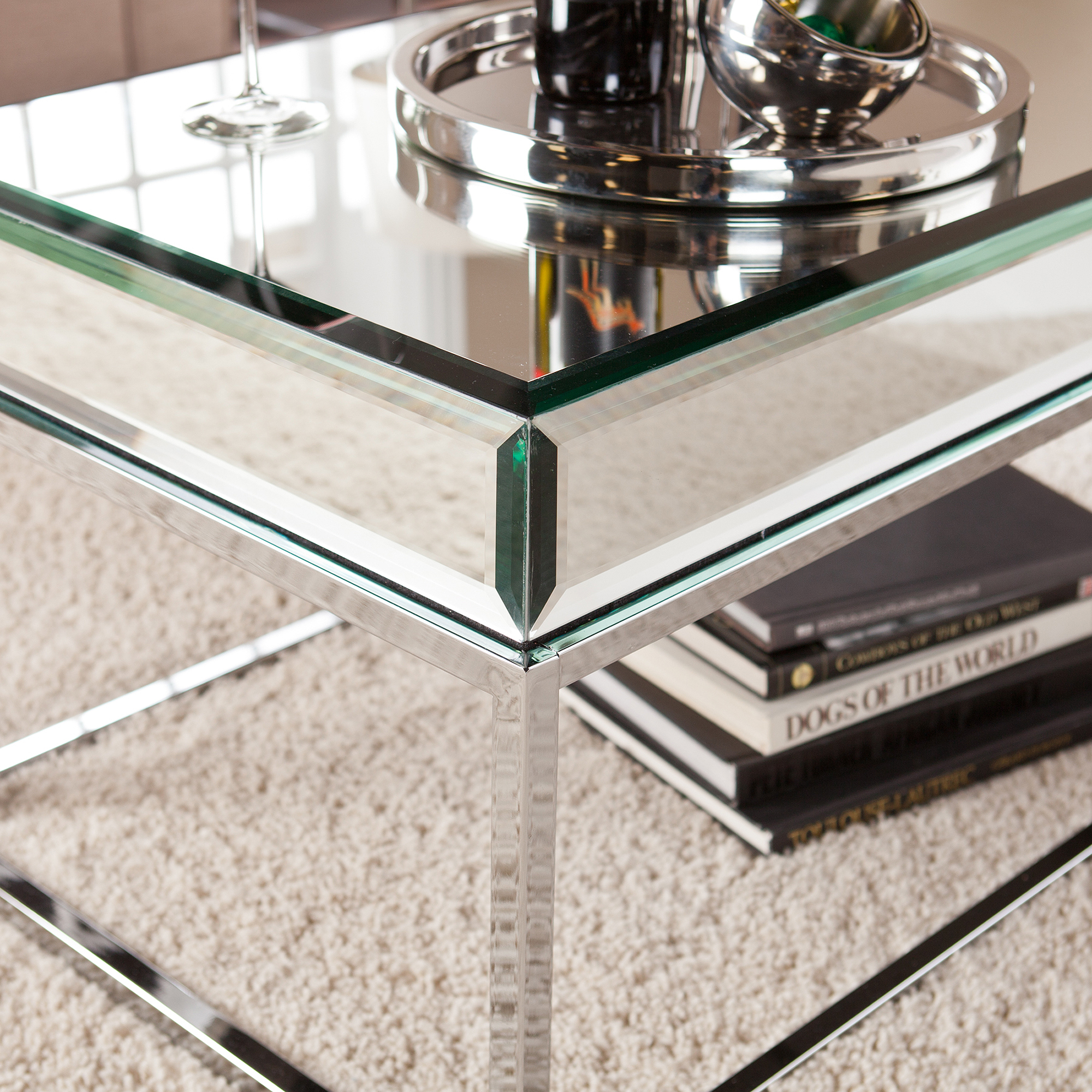Mirrored Coffee Table | Mirrored Entry Table | Marble Coffee Table Round
