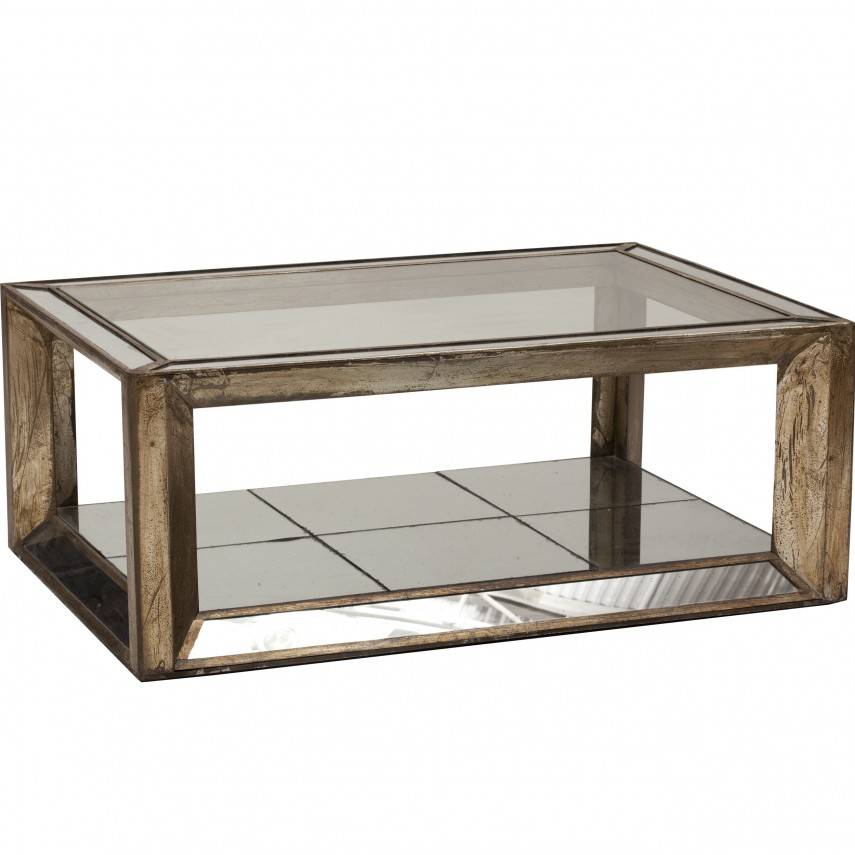 Mirrored Coffee Table | Oval Marble Coffee Table | Brass And Glass Coffee Table