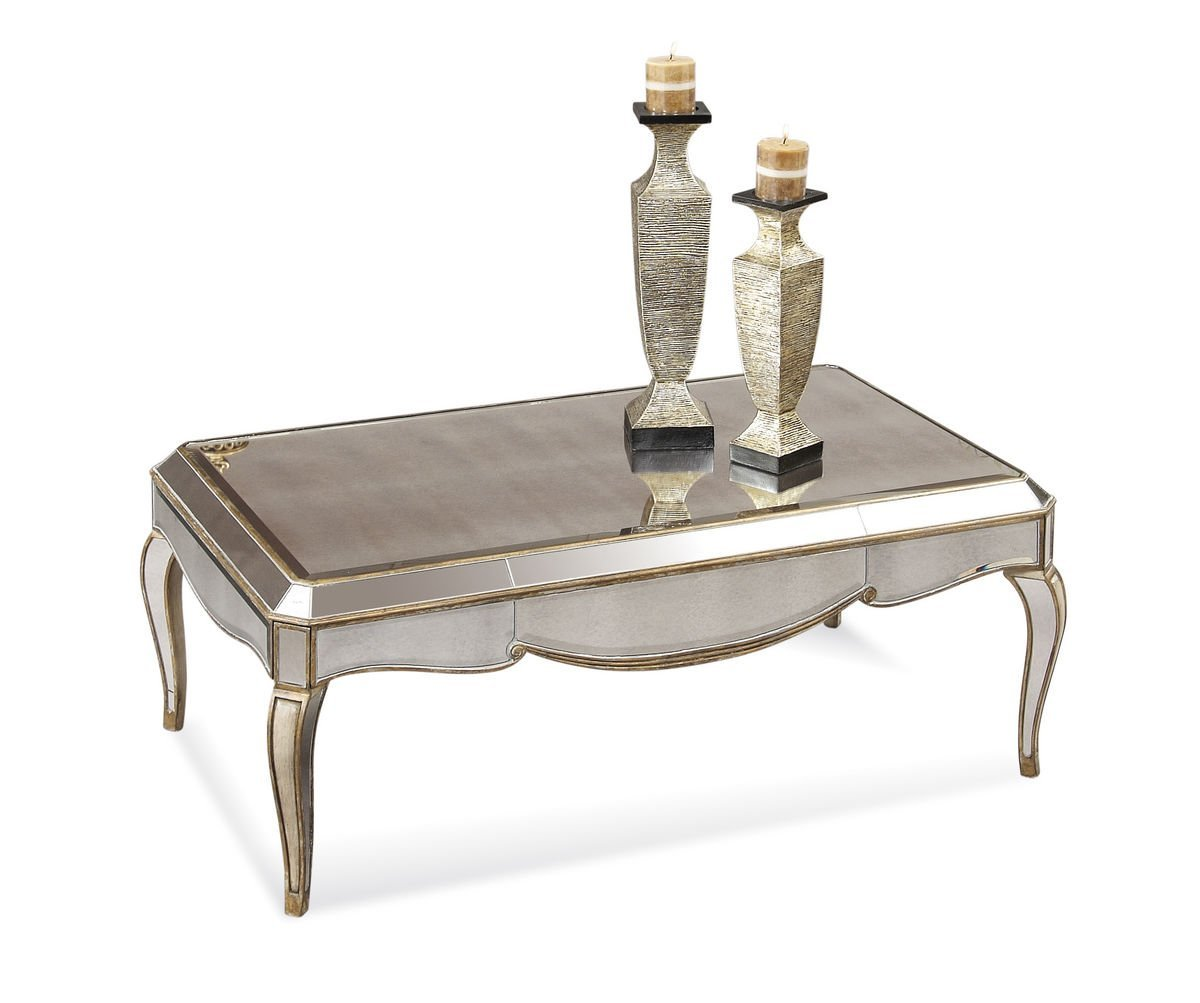 Mirrored Coffee Table | Small Marble Coffee Table | Rectangle Glass Coffee Table