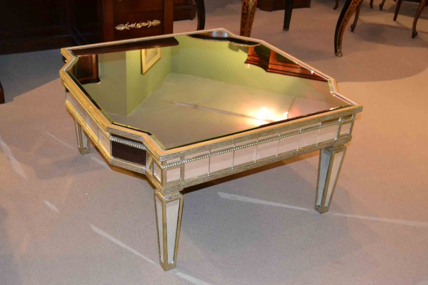 Mirrored Coffee Table Tray | Mirrored Coffee Table | Oval Coffee Table Glass Top