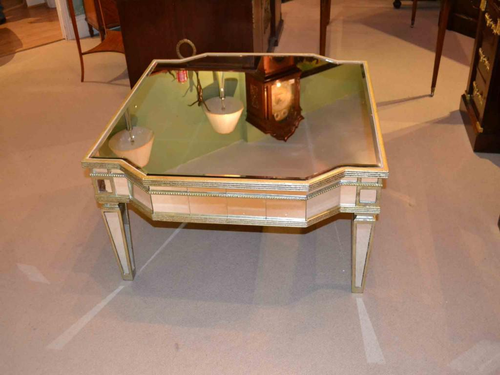 Mirrored Entry Table | Rectangular Coffee Tables | Mirrored Coffee Table