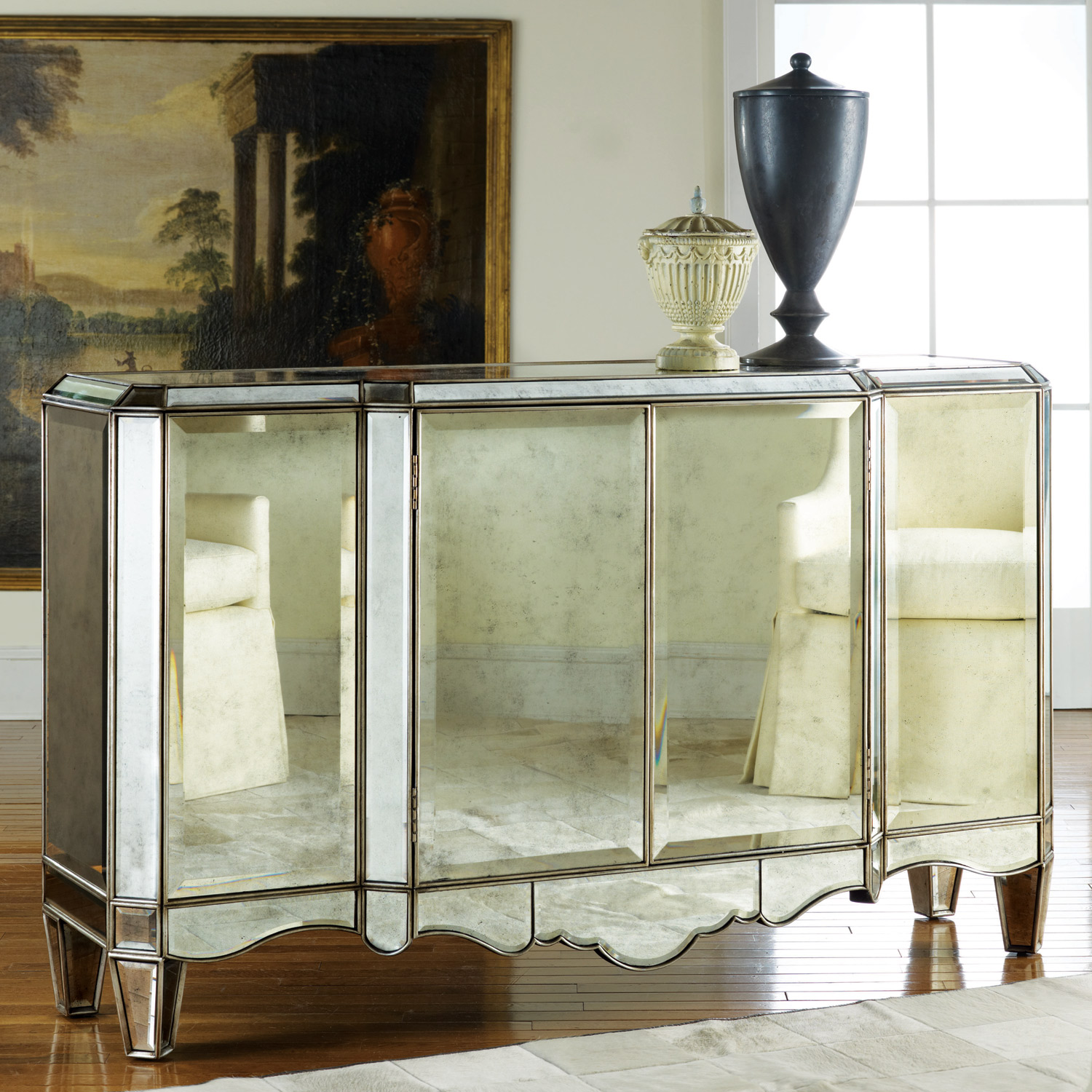 Mirrored Sideboard | Buffets and Sideboards | Credenza Buffet