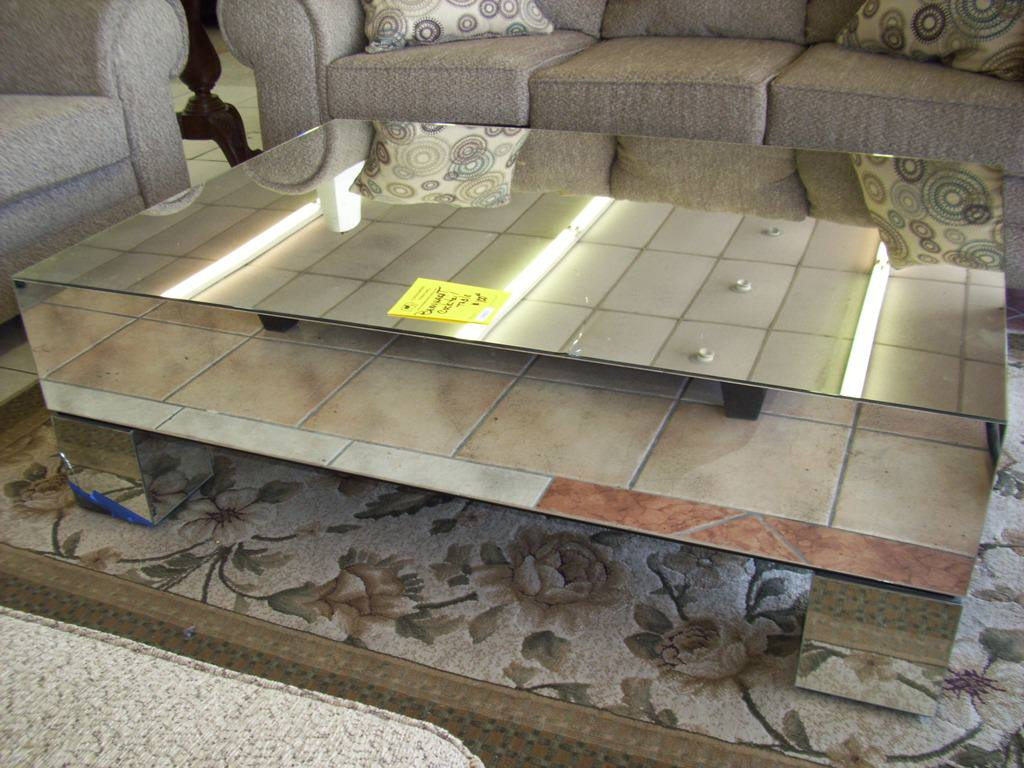 Mirrored Sofa Table | Oval Mirrored Coffee Table | Mirrored Coffee Table