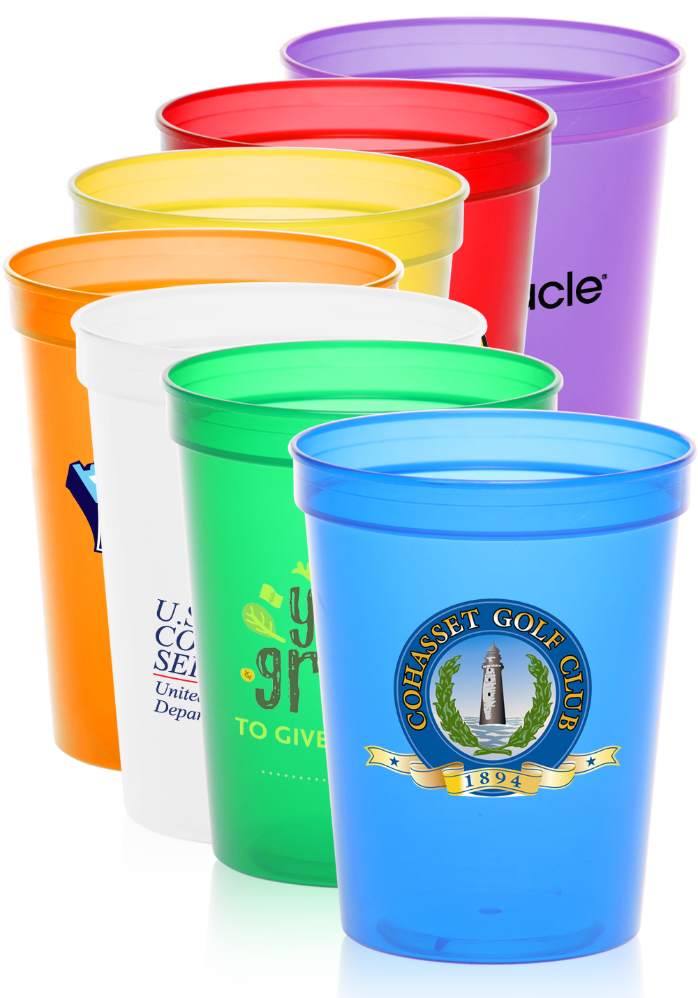 Monogrammed Cup | Hard Plastic Solo Cups | Personalized Plastic Cups