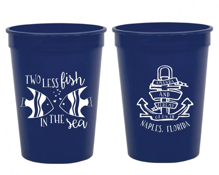 Monogrammed Cup | Plastic Personalized Cups | Personalized Plastic Cups