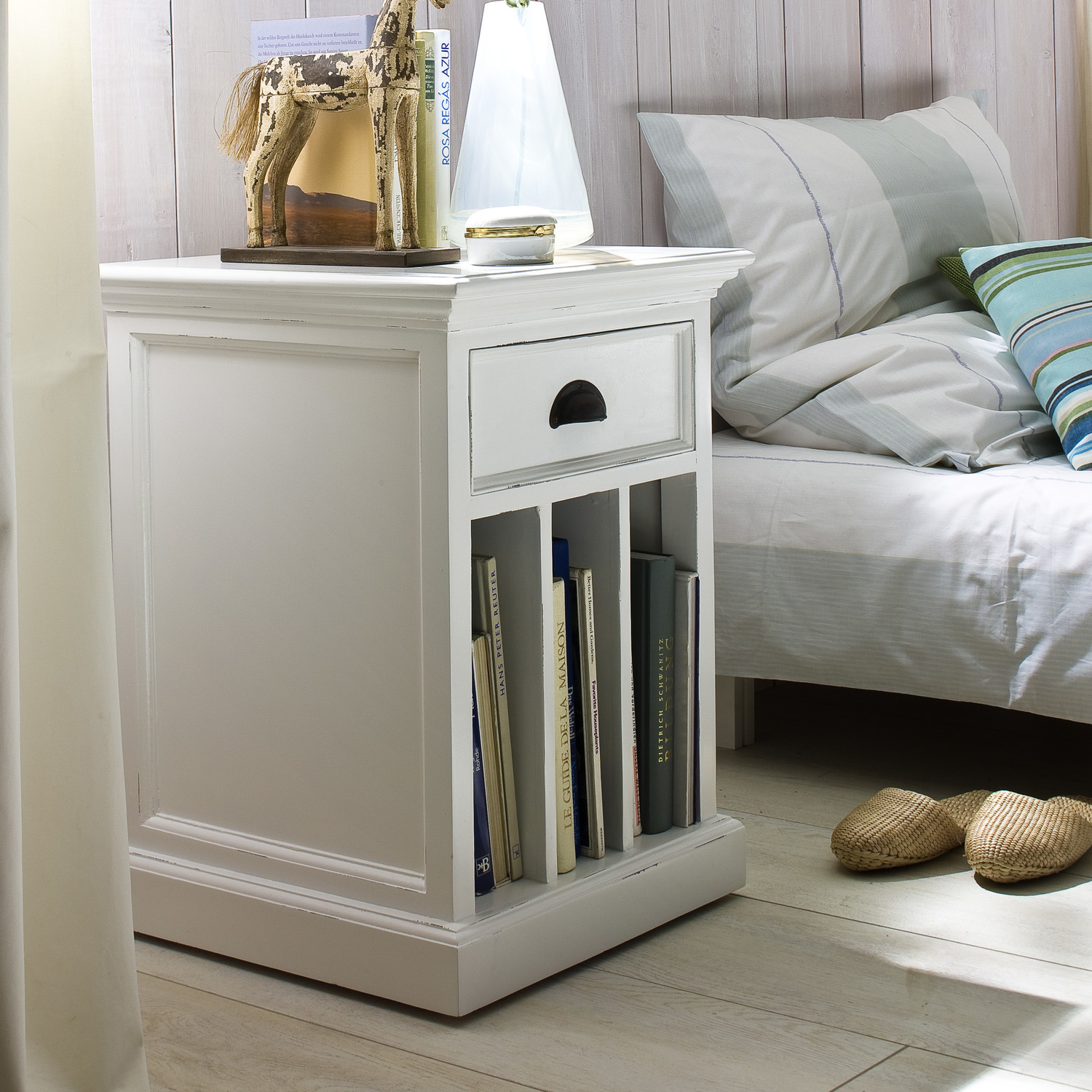 Narrow Nightstand | Cheap Nightstands | Nightstand with Baskets