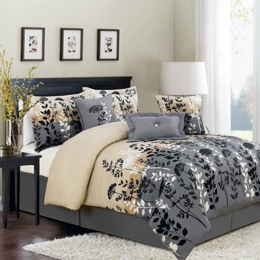 Navy And Coral Bedding | Queen Bedding Sets | Twin Bed Comforter Sets