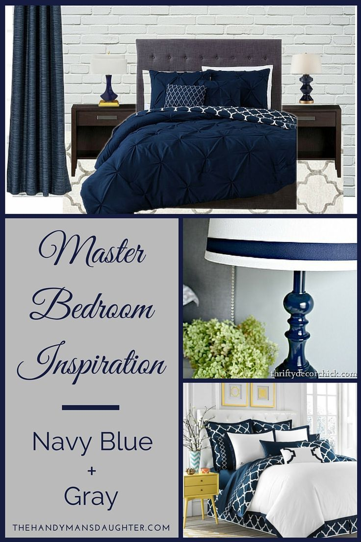 Navy and Coral Comforter | Navy Blue Comforter | Charcoal Grey Comforter Set