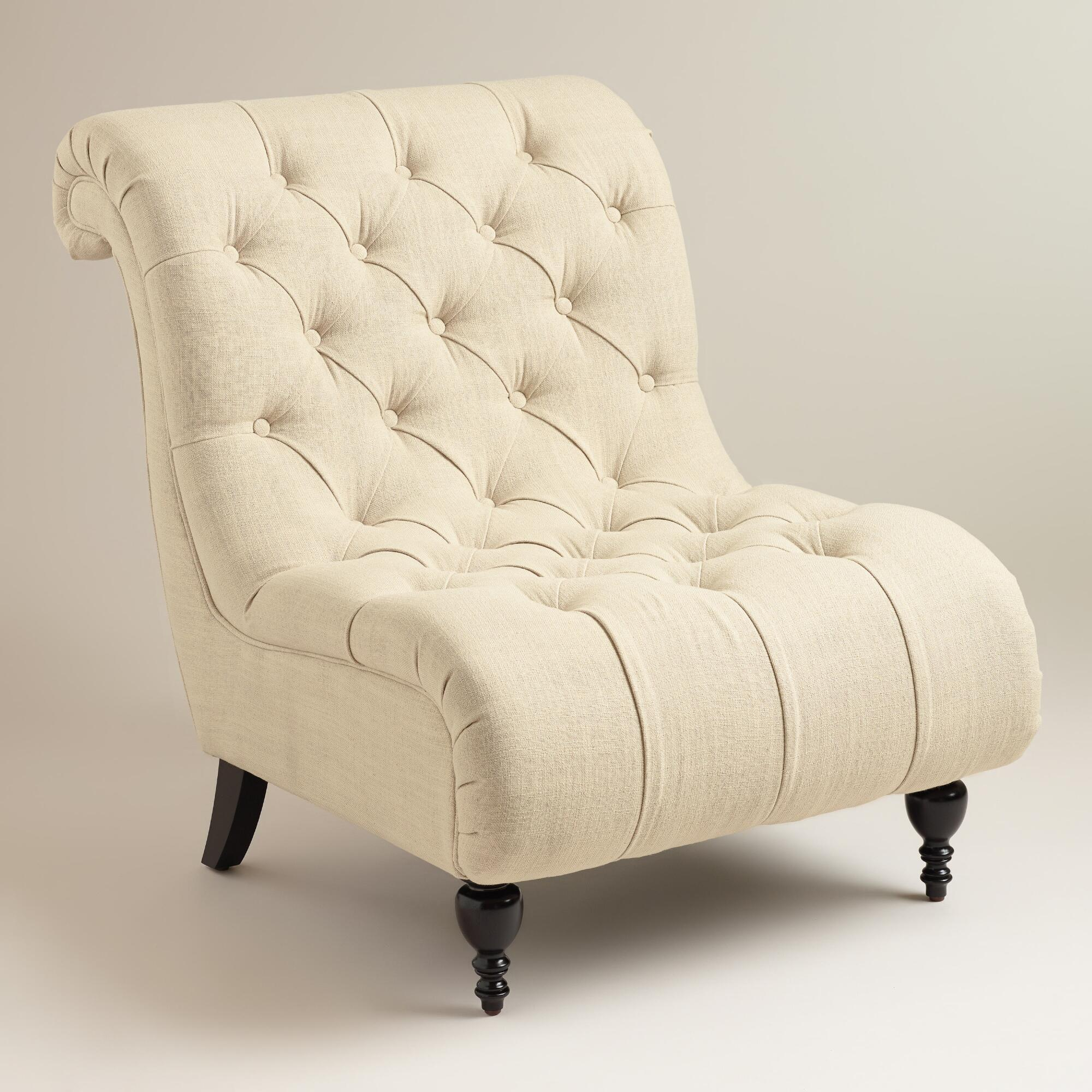 Navy Armchair | Oversized Tufted Chair | Tufted Chair