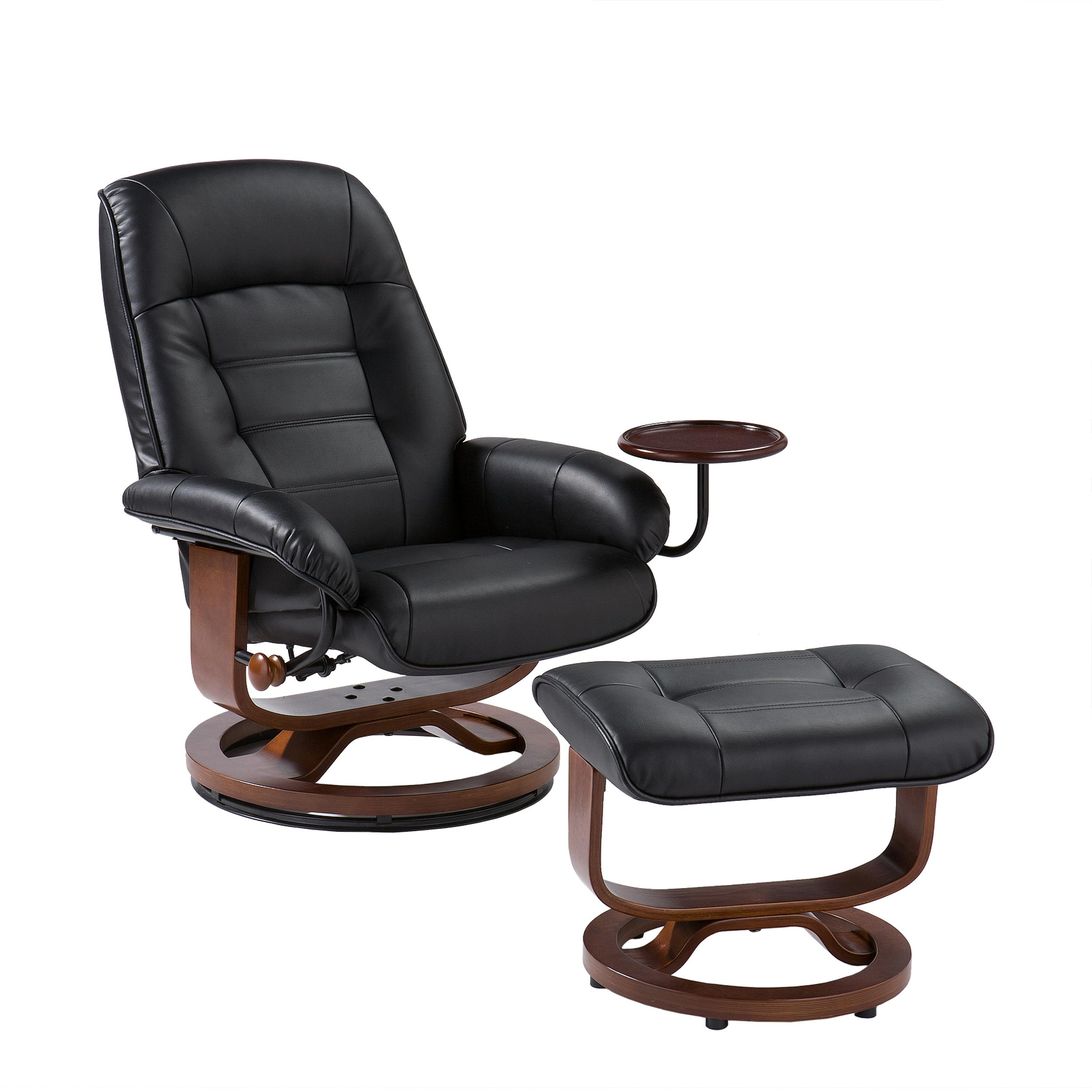 Furniture: Alluring Leather Chair And Ottoman For Cozy Home Part 43