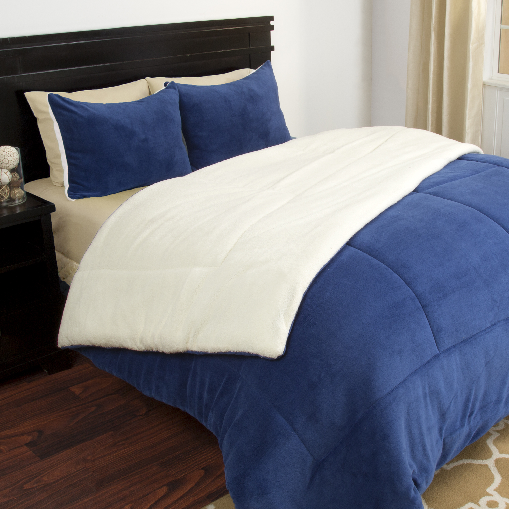 Navy Blue Comforter | Bed Comforter Sets | Navy and Coral Bedding