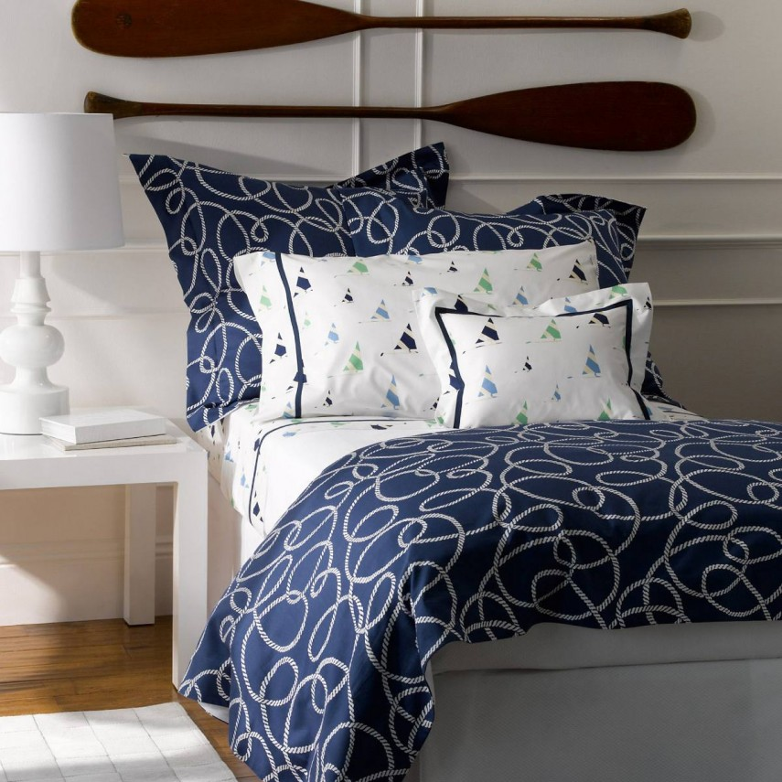 Navy Blue Comforter | Bed In A Bag Full | Turquoise Comforter