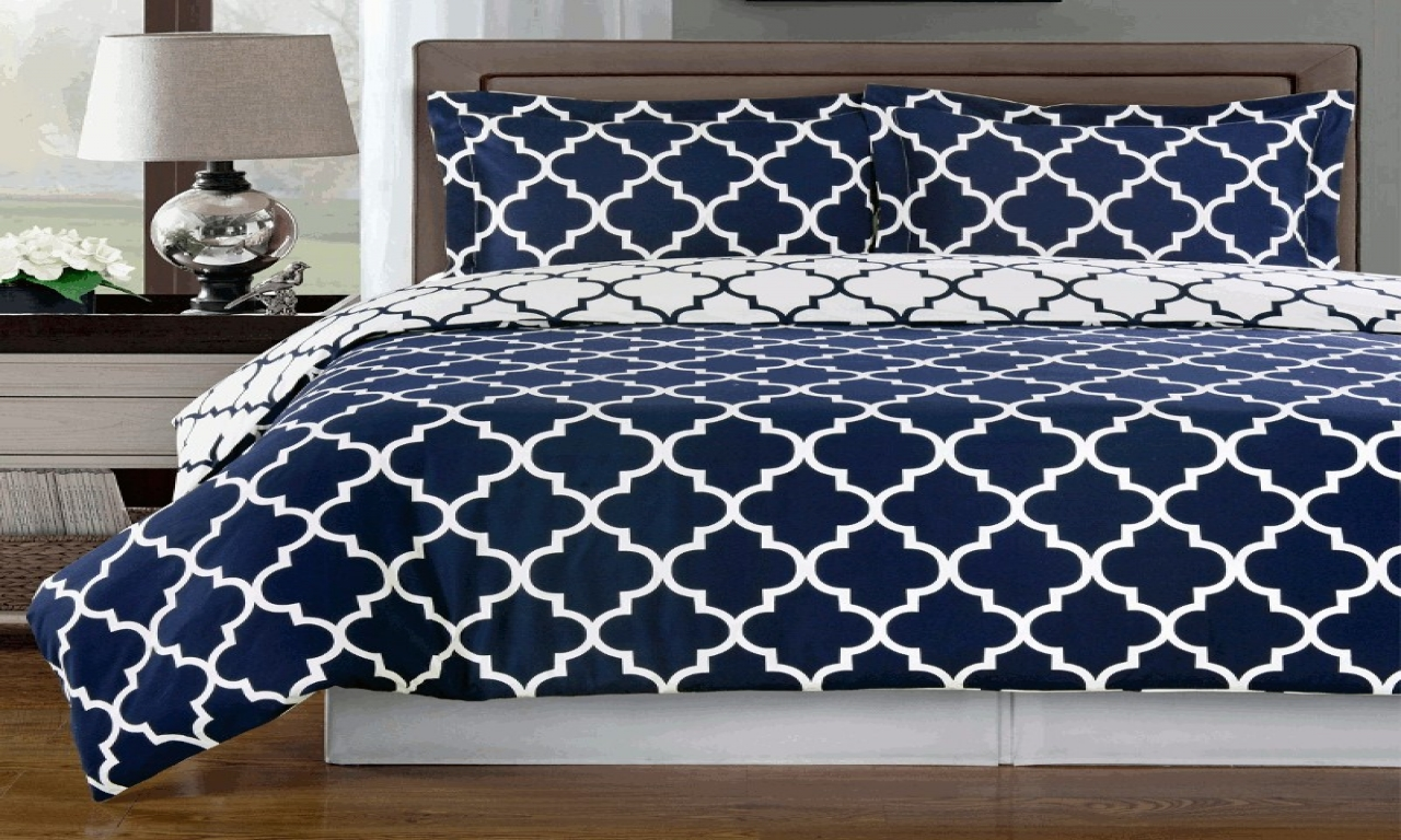 Bedroom Elegant Navy Blue Comforter For Bedroom