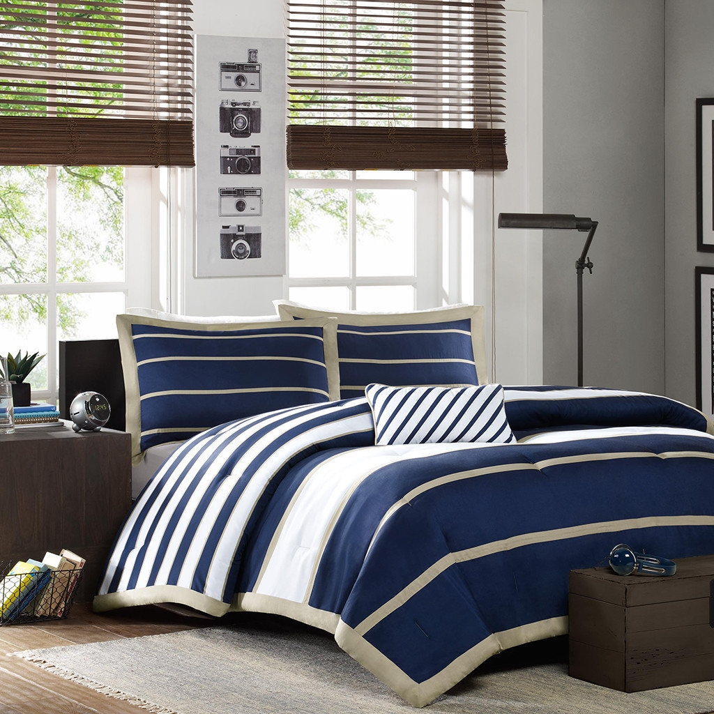 Navy Blue Comforter | Target Bedspreads | Navy and Coral Bedding