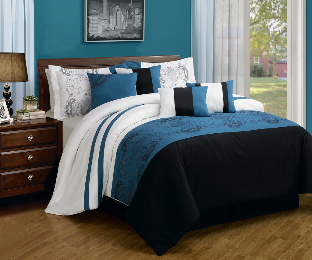 Royal blue bedding queen - Navy Blue Comforter Turquoise Comforter Set Comforter Set Queen