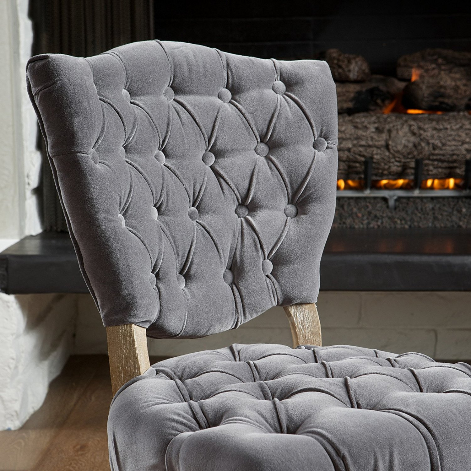 Navy Dining Room Chairs   Tufted Dining Chair   Grey Upholstered Dining Chairs