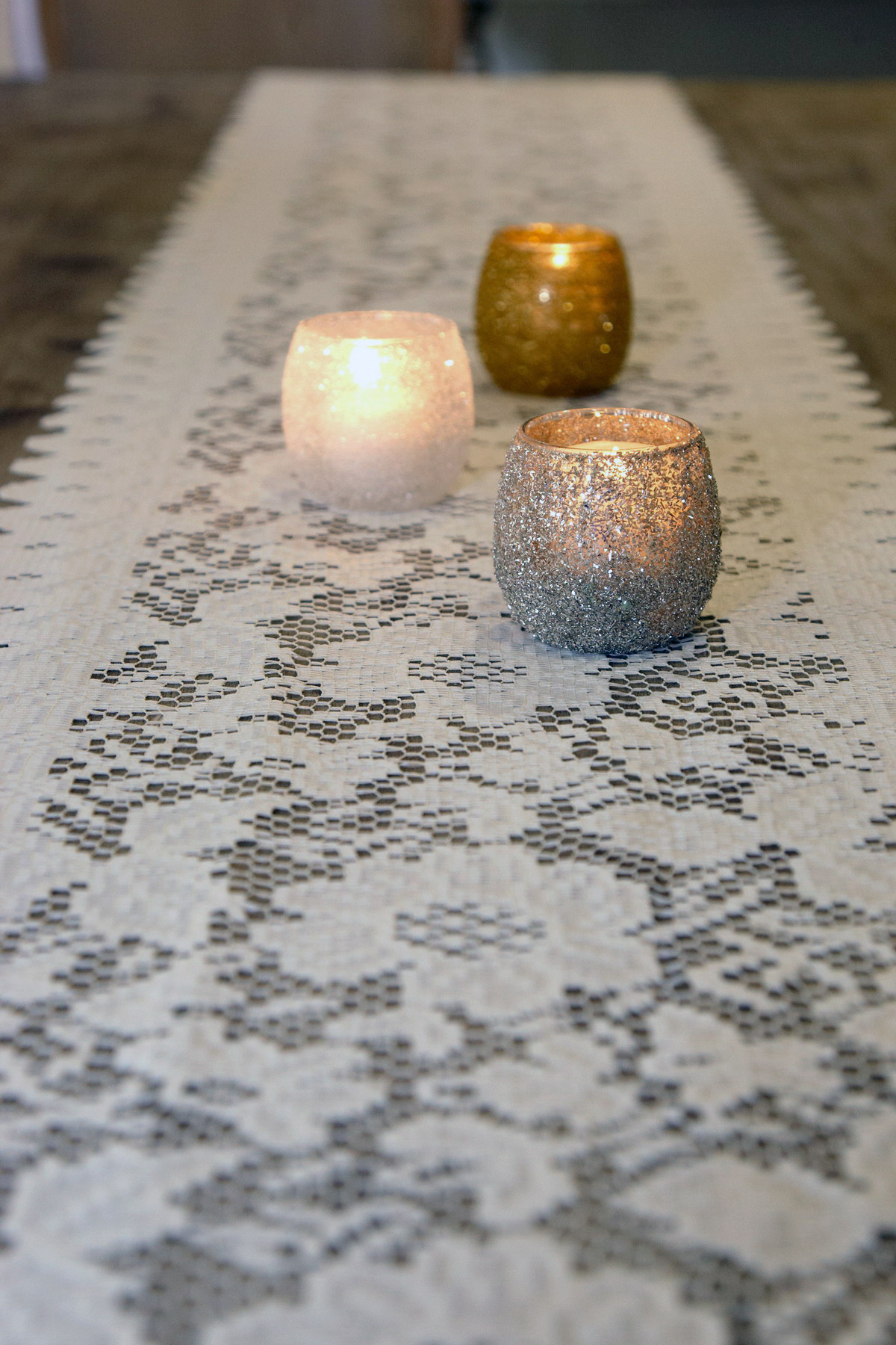 Navy Table Runners | Autumn Table Runner | Lace Table Runners