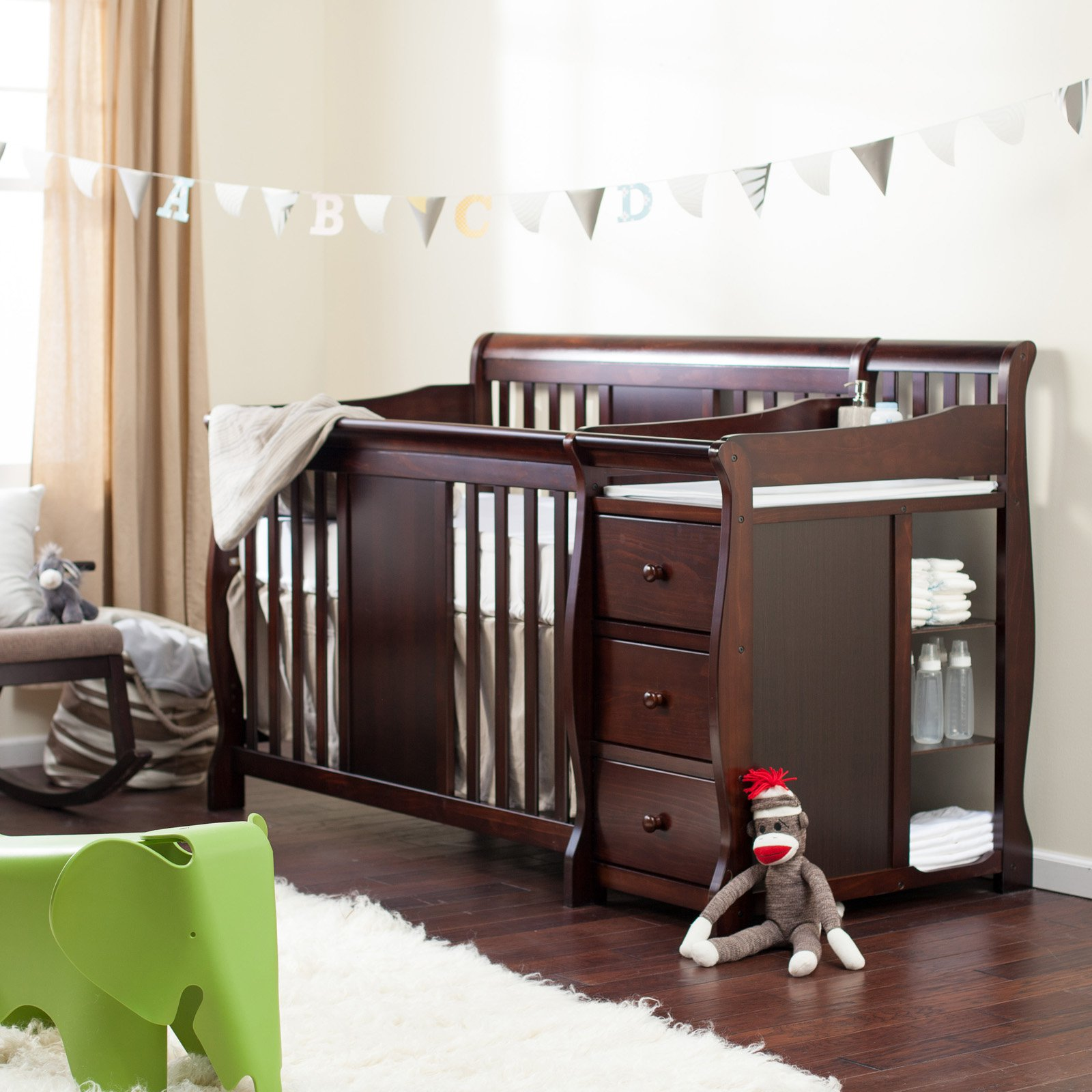 Newborn Crib | Baby Crib with Changing Table Attached | Cheap Cribs