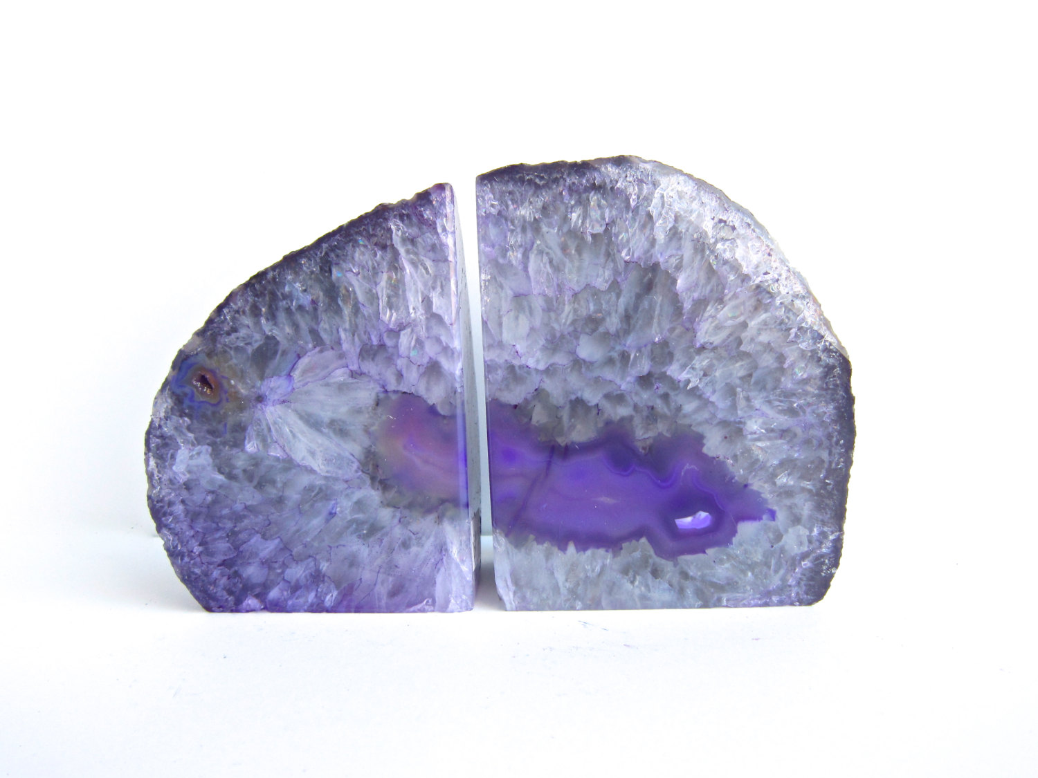 Nice Agate Geode Bookends | Redoubtable Geode Bookends Design