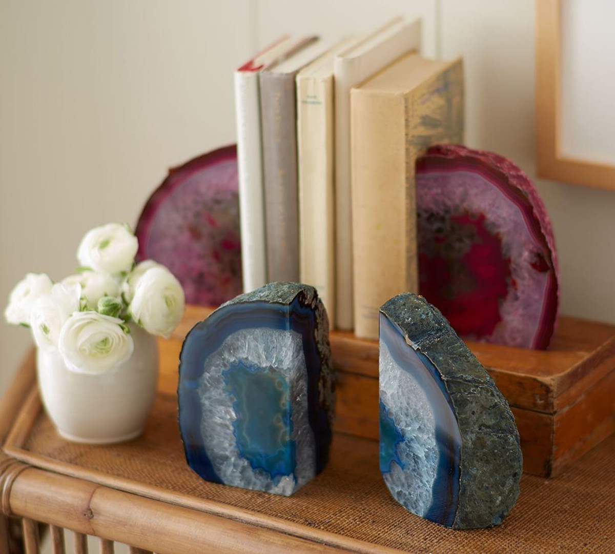 Nice Geode Bookends Natural Stone | Elegant Geode Bookends Styles
