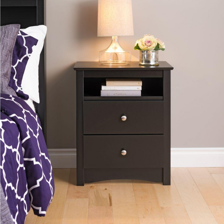 Nightstand Tall | Modern Wood Nightstand | Tall Nightstands