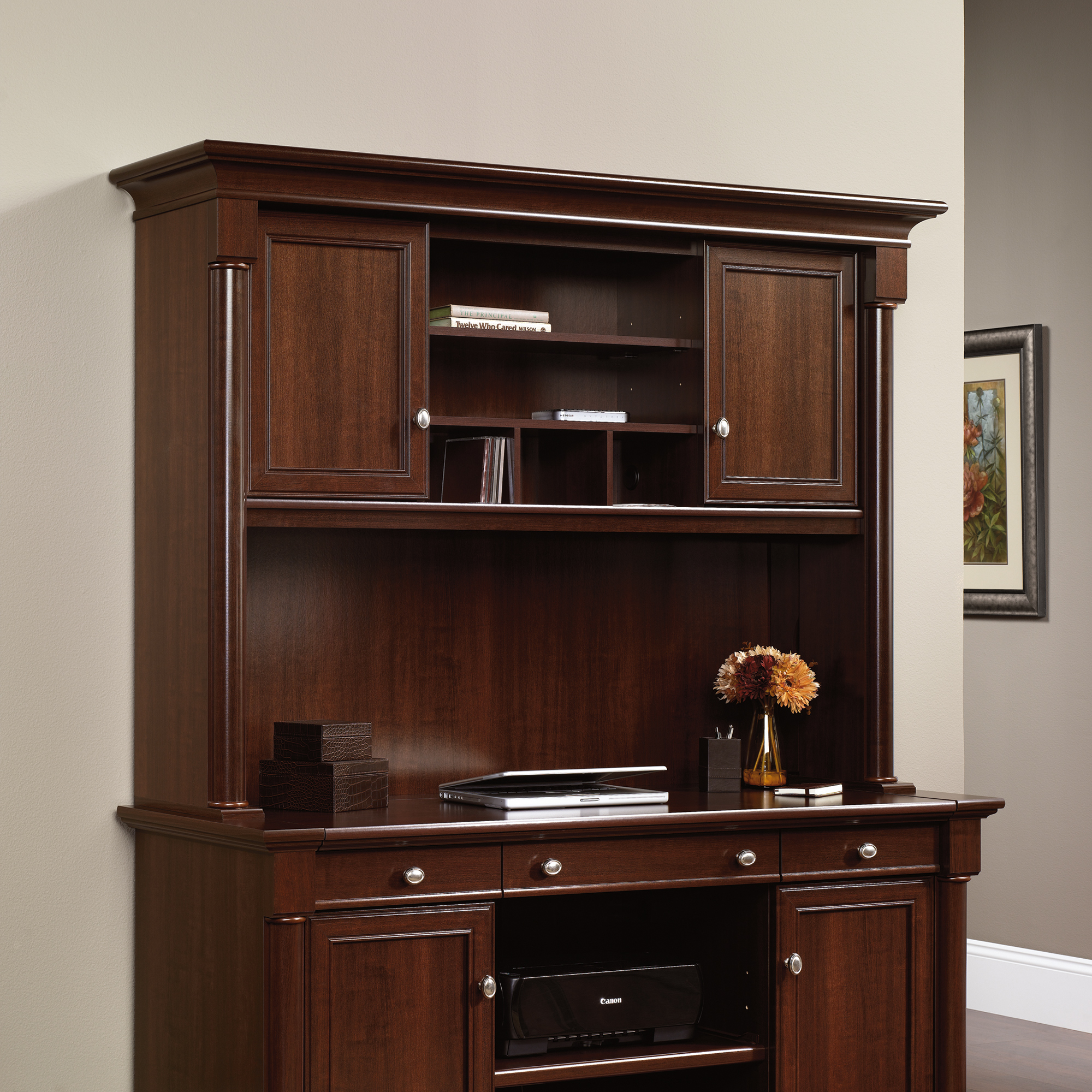 Oak Computer Desk with Hutch | Sauder Computer Desks | Maple Computer Desk