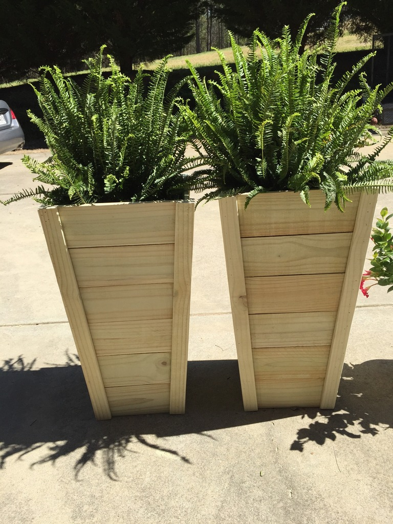 Outdoor Tall Planters | Tall Planters | Large Rectangular Planters