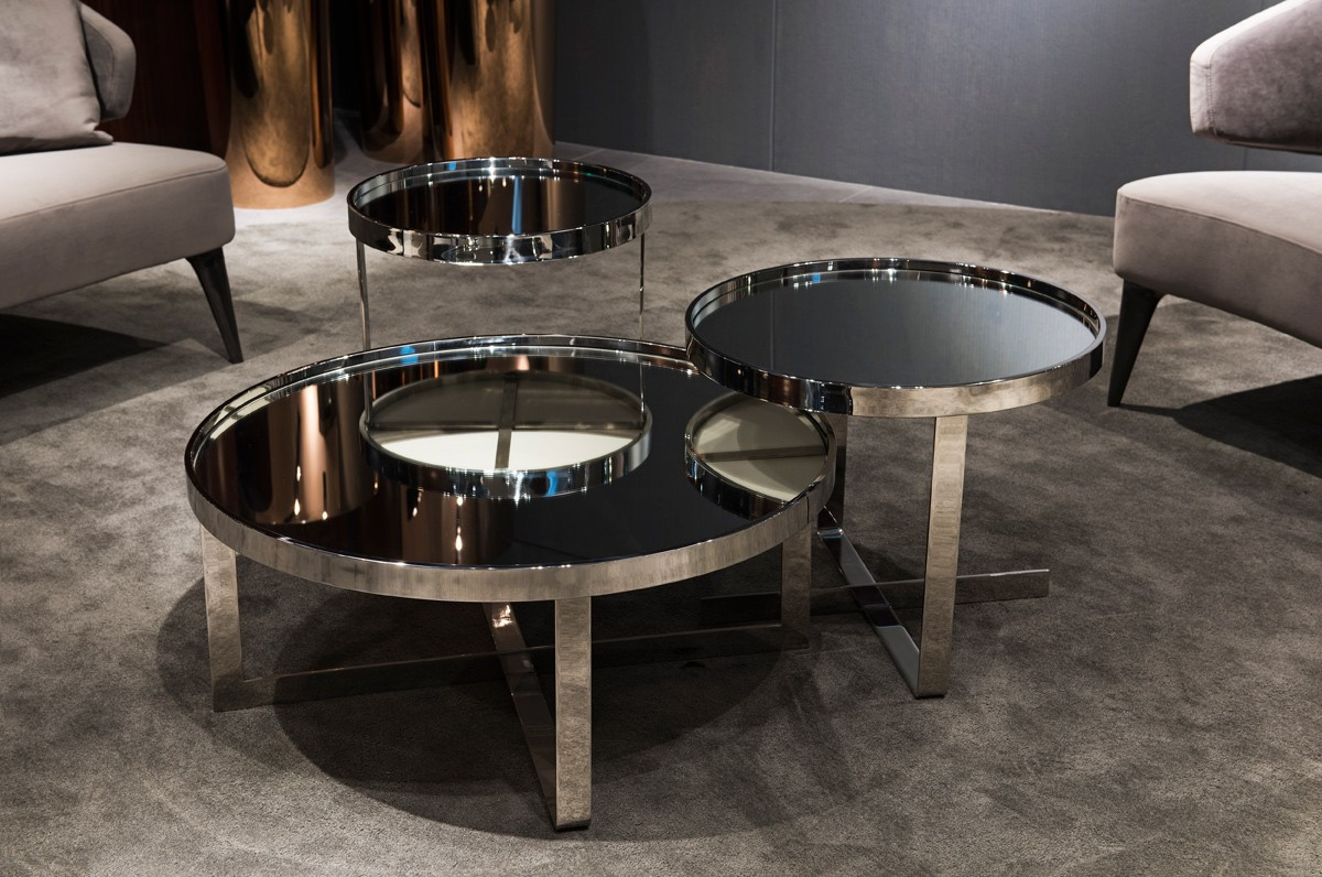 Oval Coffee Table Glass Top | Mirrored Coffee Table | Oversized Coffee Table