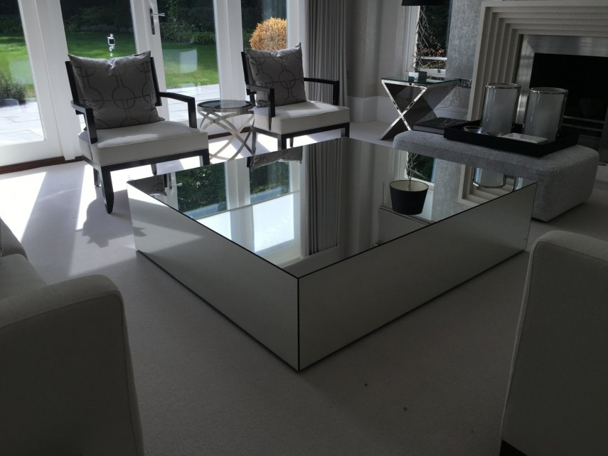 Oval Coffee Table | Mirrored Coffee Table | Lane Coffee Table Mid Century