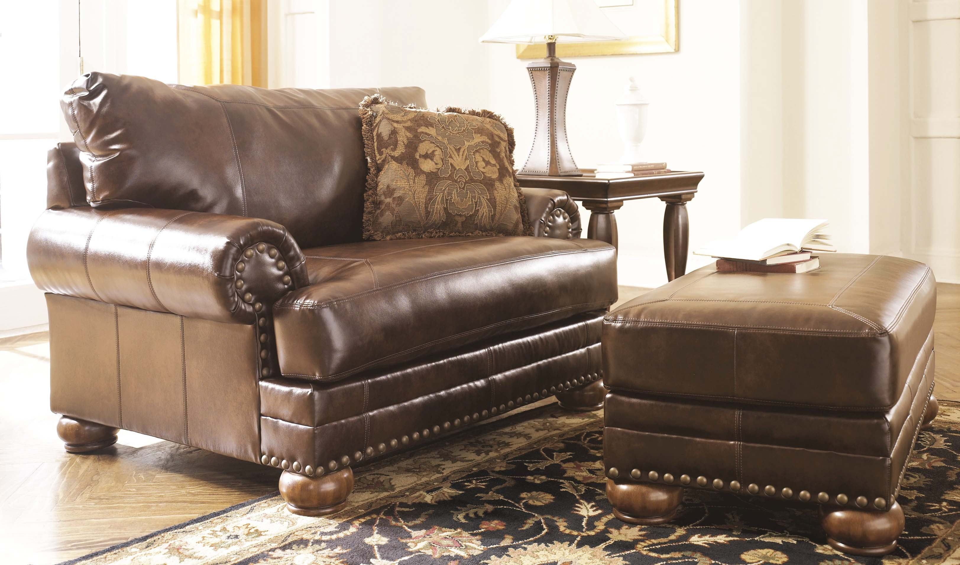 Oversized Chairs for Living Room | World Market Armchair | Leather Chair and Ottoman