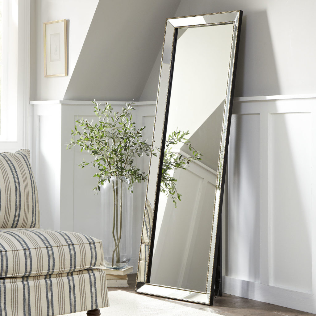 Bedroom appealing oversized mirrors for home decoration for Framed floor mirror