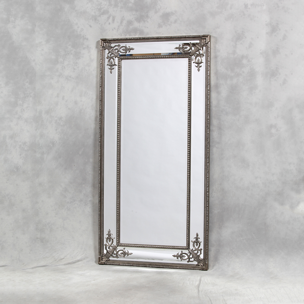 Full length mirror wood garrett wood floor mirror with for Decorative full length wall mirrors
