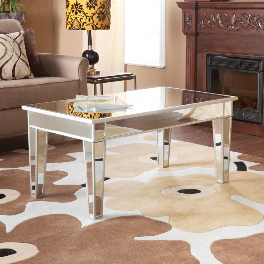 Oversized Square Coffee Tables | Rectangular Coffee Table | Mirrored Coffee Table