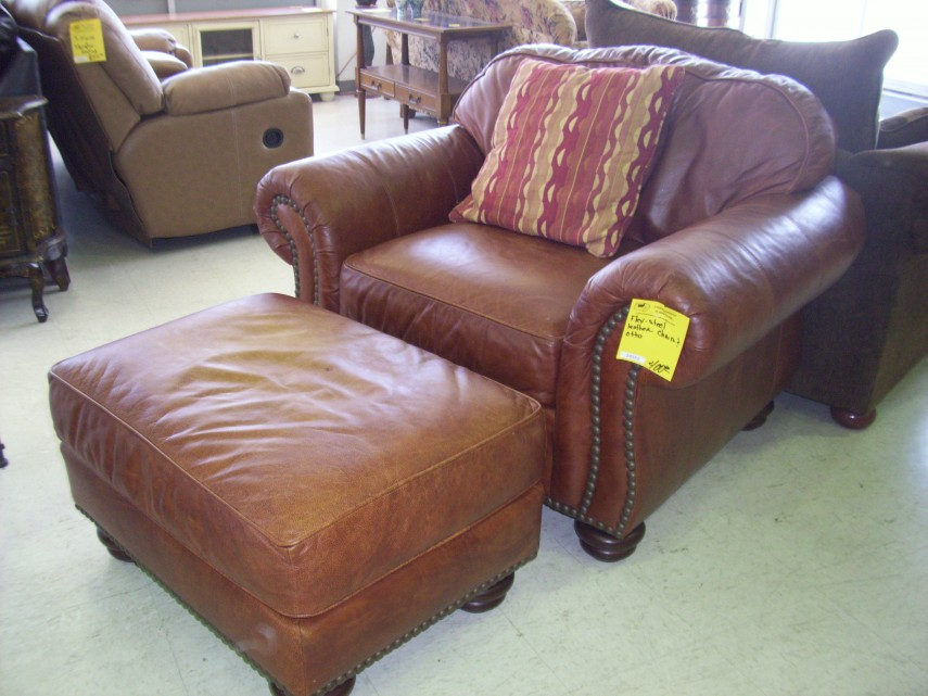 Overstock Ottoman | Accent Chairs Under 100 | Leather Chair And Ottoman