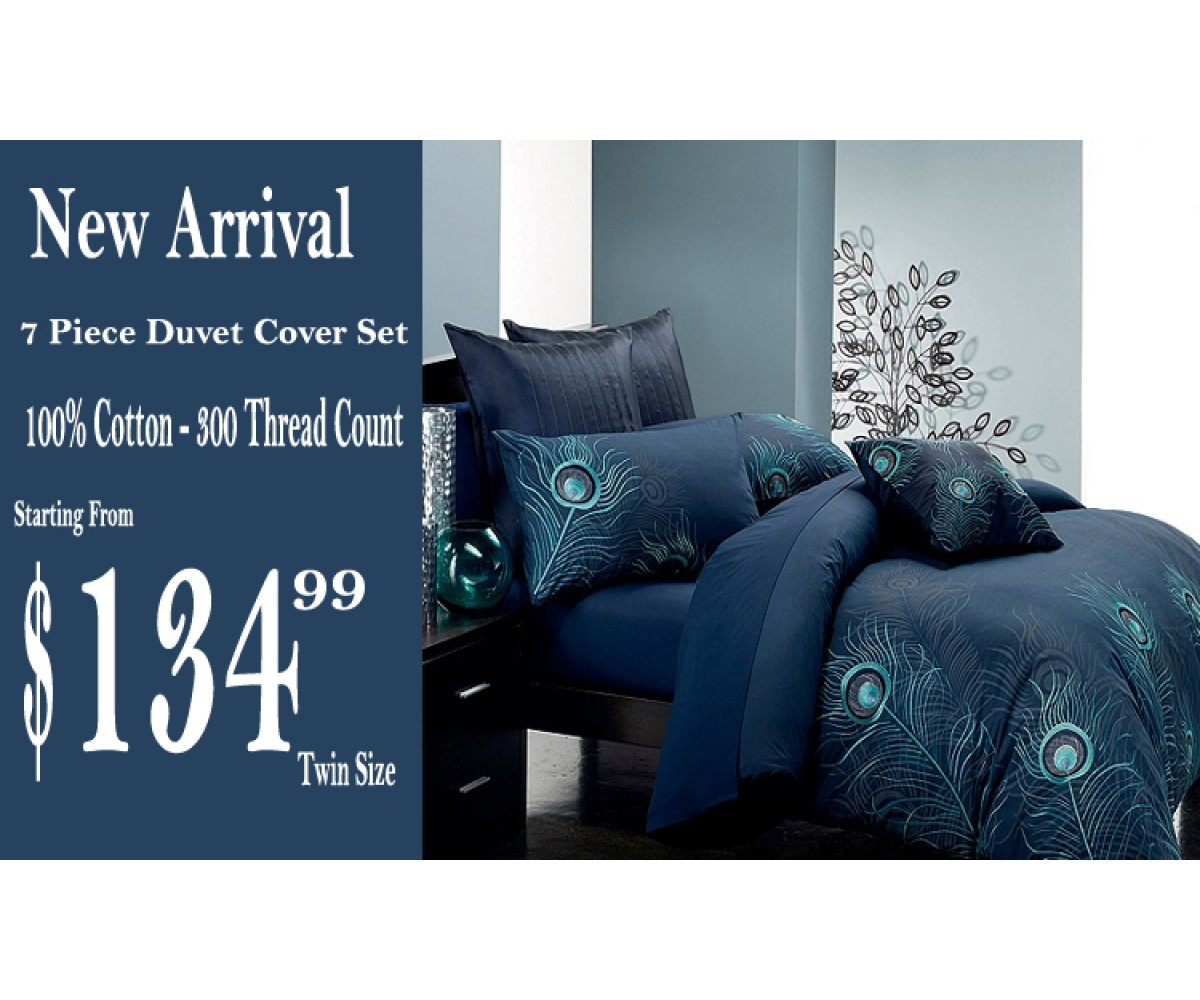 Peacock Bedding | Peacock Feather Comforter | Peacock Feather Comforter Set