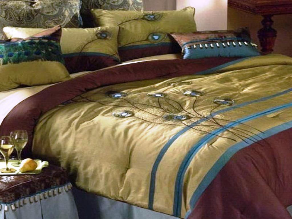 Peacock Bedding | Peacock Feather Comforter Set | Peacock Bedding Set