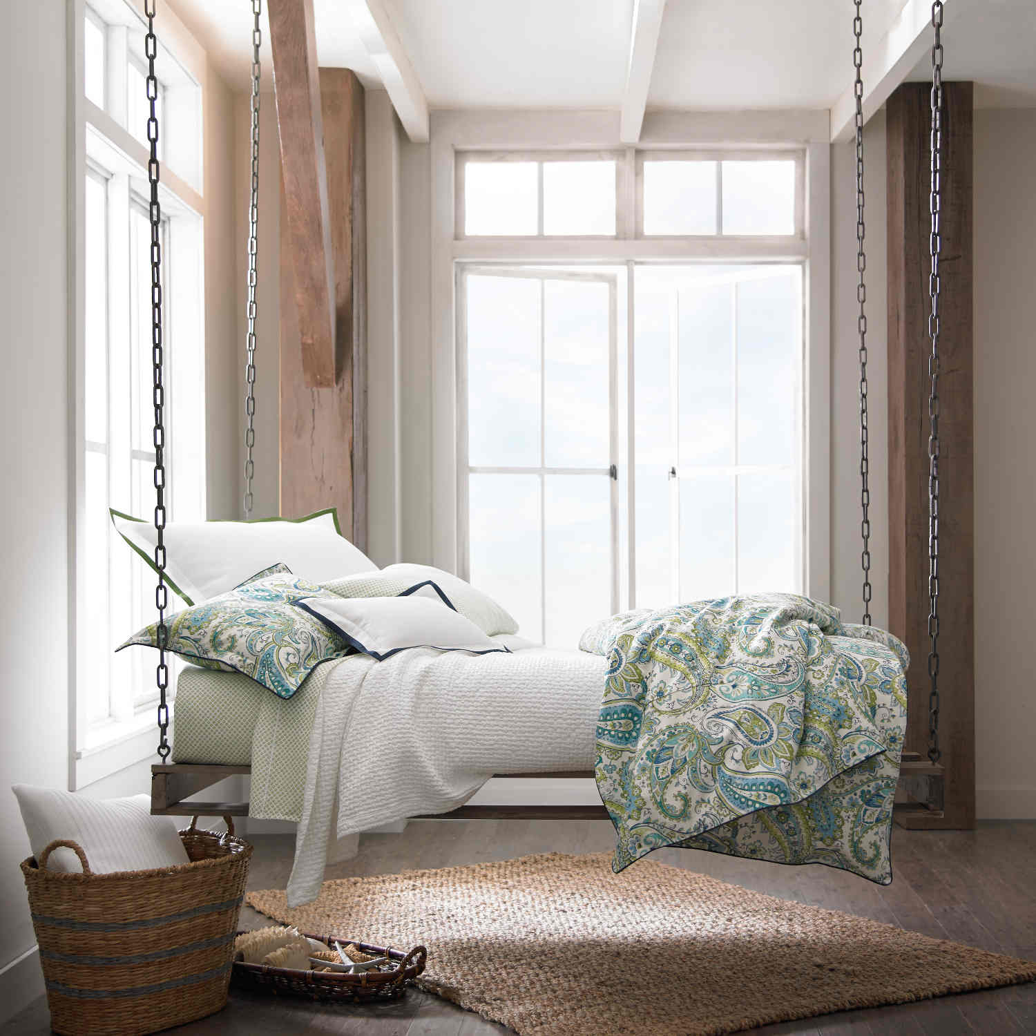 Peacock Bedding | Peacock Feather Duvet Cover | Trina Turk Peacock Bedding