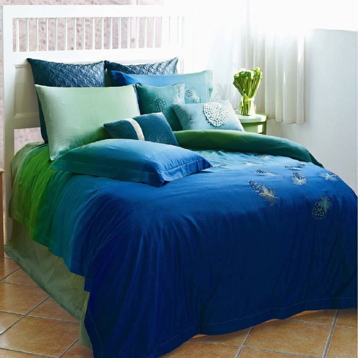 Peacock Blue Sheet Set | Peacock Bedding | Peacock Alley Bedding Reviews