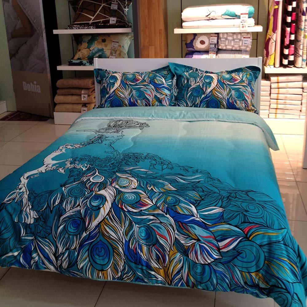 Peacock Duvet | Peacock Bedding | Peacock Alley Sheets Review