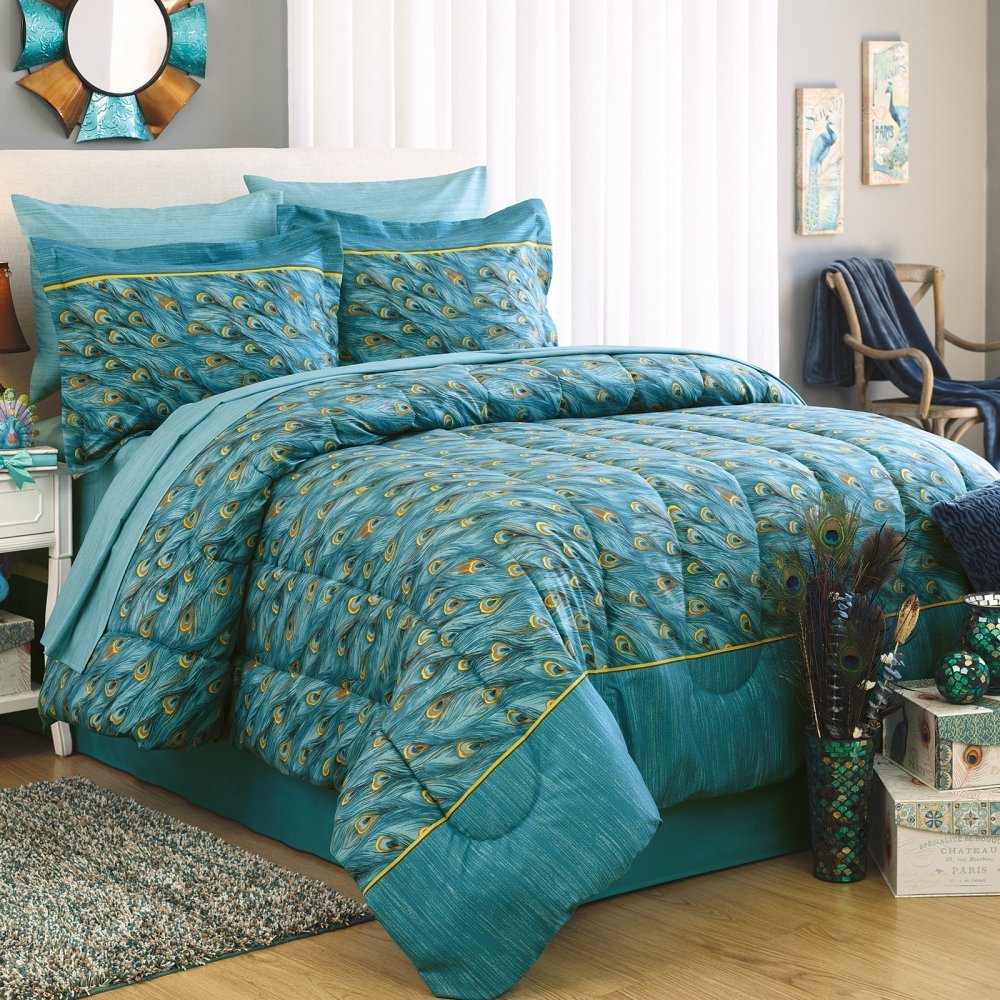 Peacock Nursery Bedding | Peacock Bed Spread | Peacock Bedding