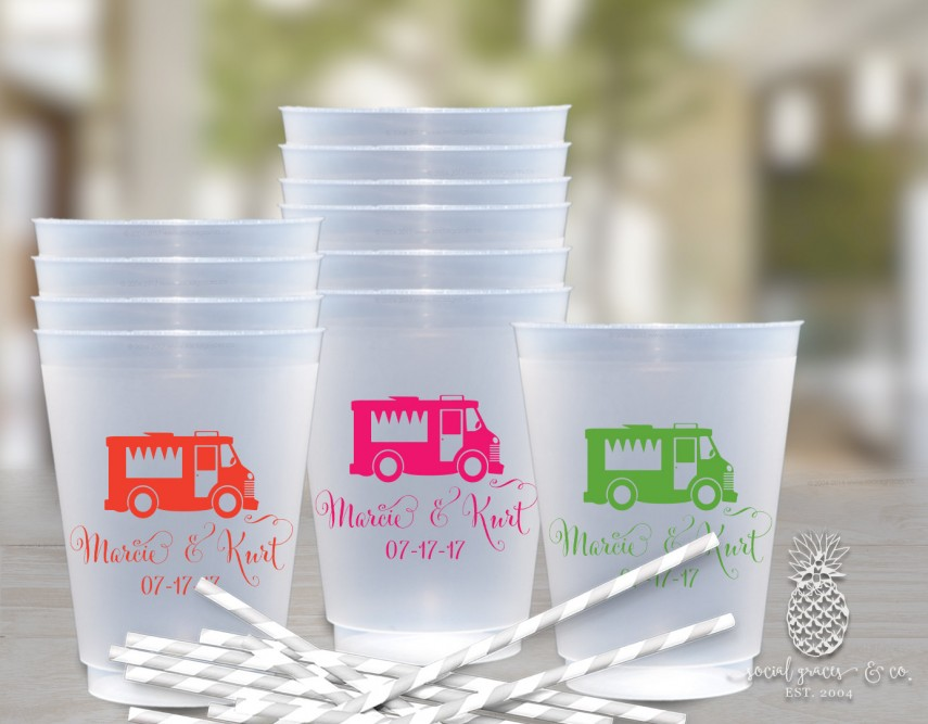 Personalized Cups For Wedding | Personalized Disposable Plastic Cups | Personalized Plastic Cups