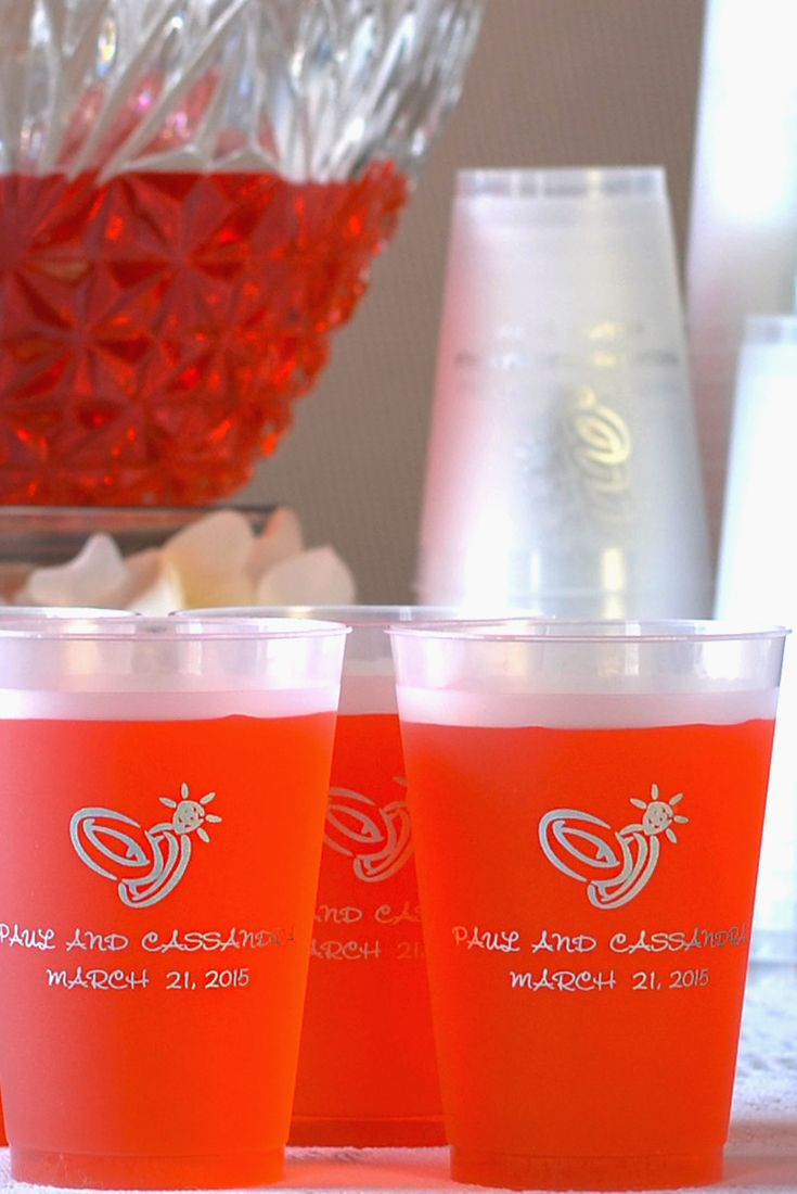 Personalized Plastic Cups | Customizable Cups | Personalized Drinking Cups