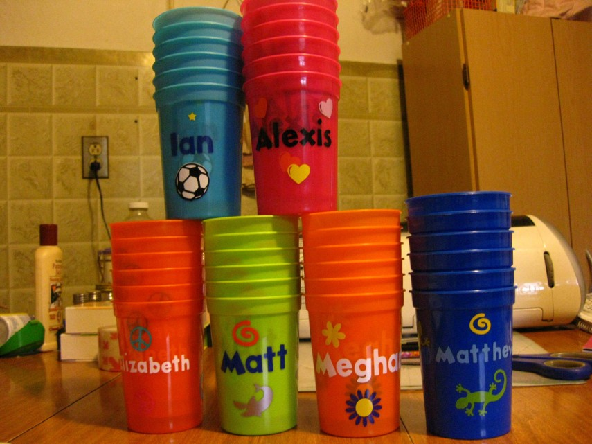 Personalized Plastic Cups | Eat Drink And Be Married Cups | Custom Stadium Cups