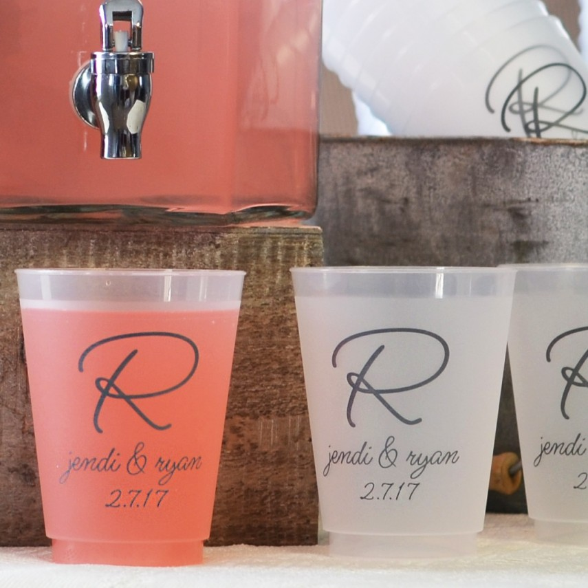 Personalized Plastic Cups   Plastic Cup With Straw Personalized   Cheap Stadium Cups