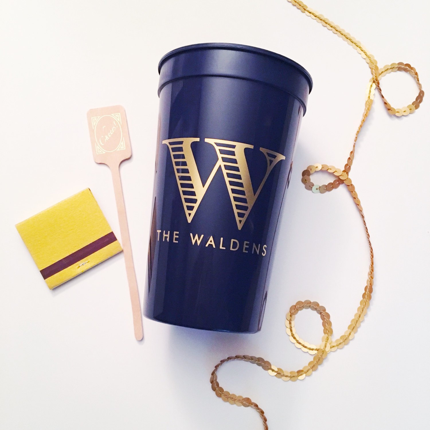 Personalized Plastic Cups | Printed Cups for Wedding | Custom Disposable Cups