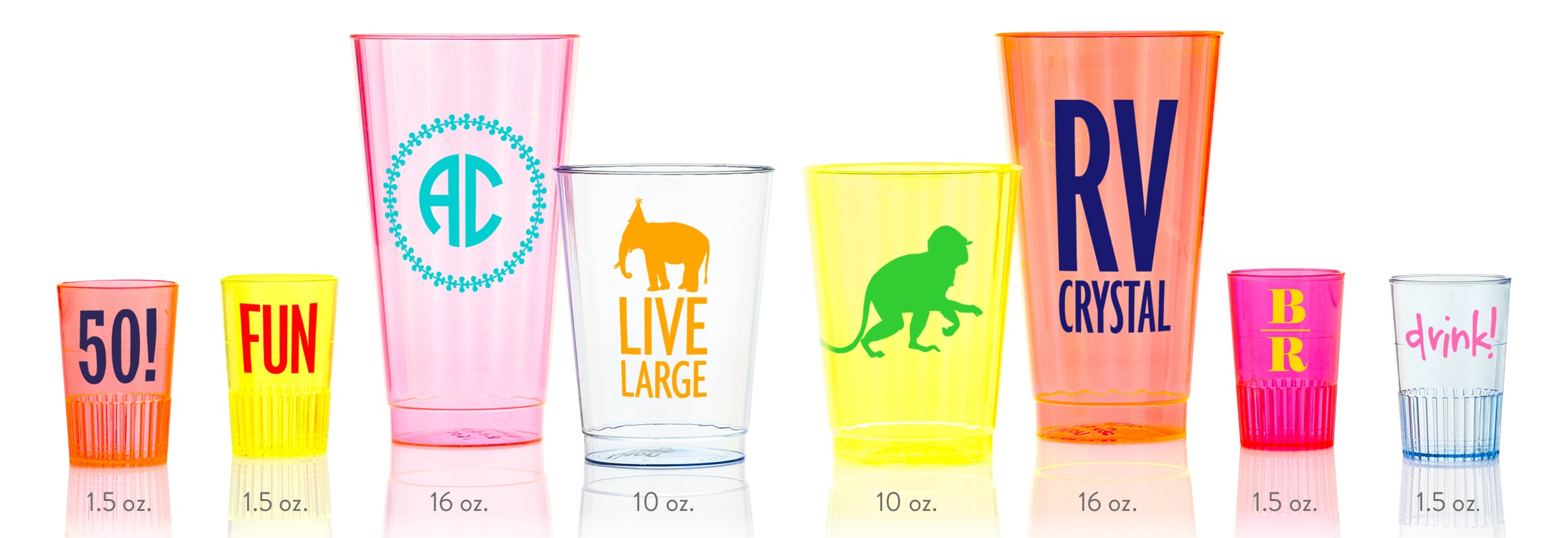 Personalized Tumbler Cups | Customizable Tumblers | Personalized Plastic Cups