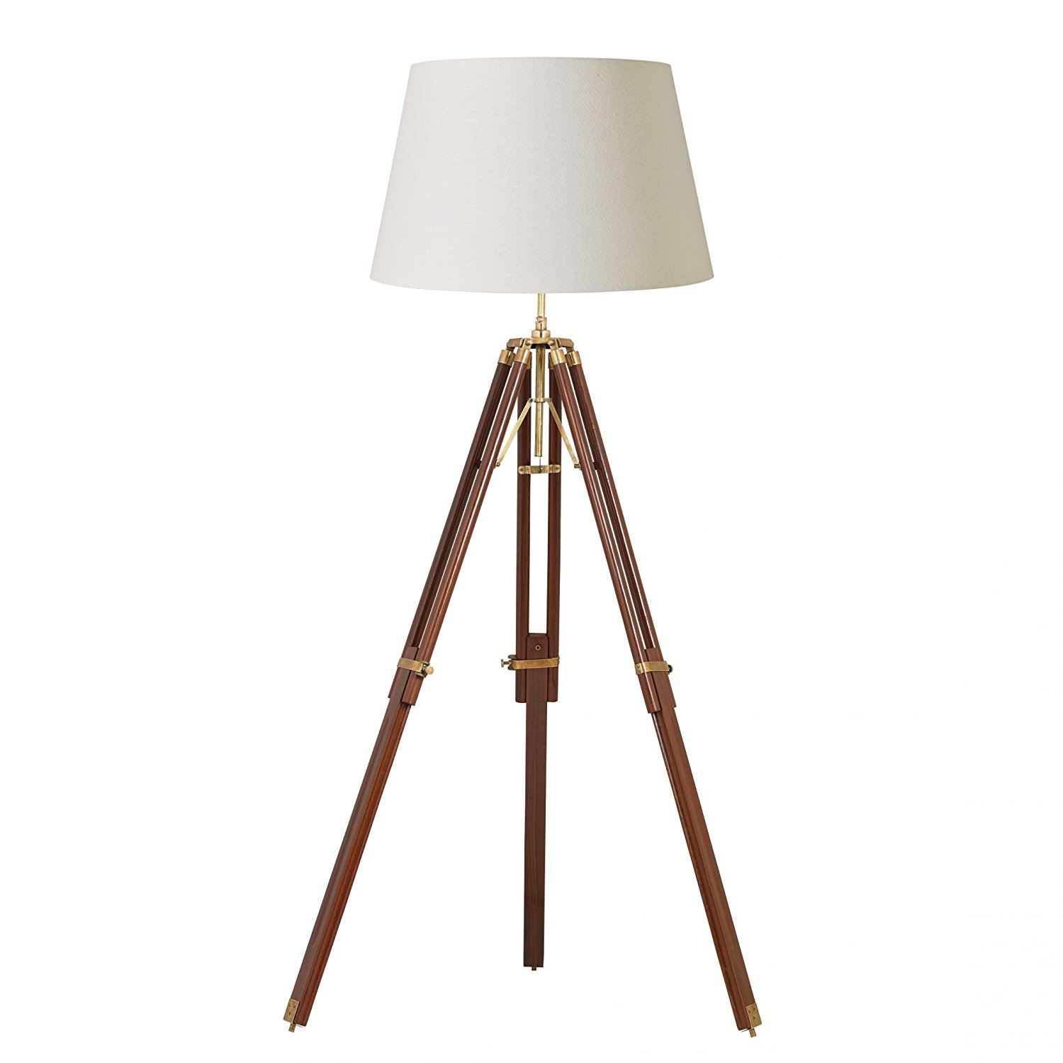 Photographers Lamp Floor | Brass Pharmacy Floor Lamp | Tripod Lamp