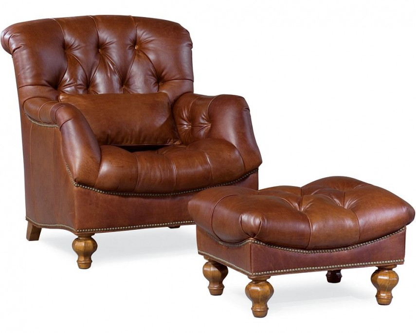 Pier One Accent Chairs | Leather Chair And Ottoman | World Market Ottoman