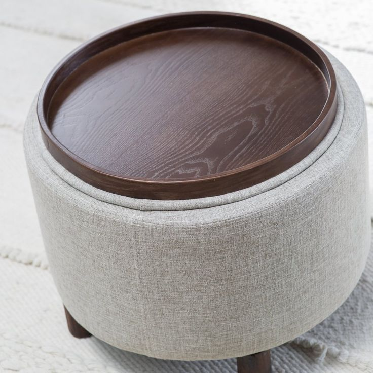 Tufted Ottoman With Tray Ottomans U0026 Storage Ottomans Shop The