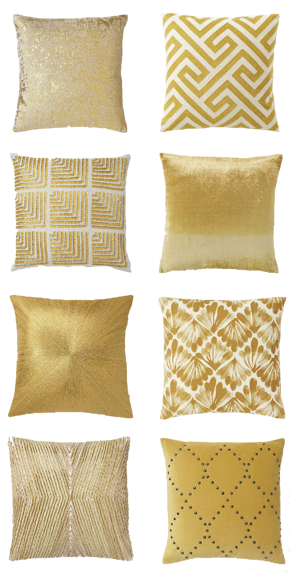 Pillows 24x24 | Gold Throw Pillows | Coral Pillow Covers
